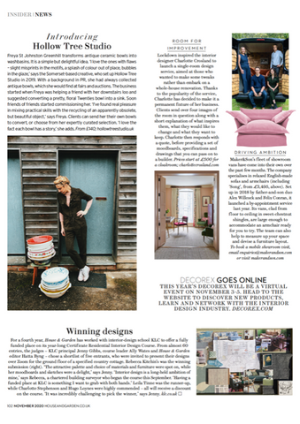Maker&Son UK Sales Team feature in House&Garden article