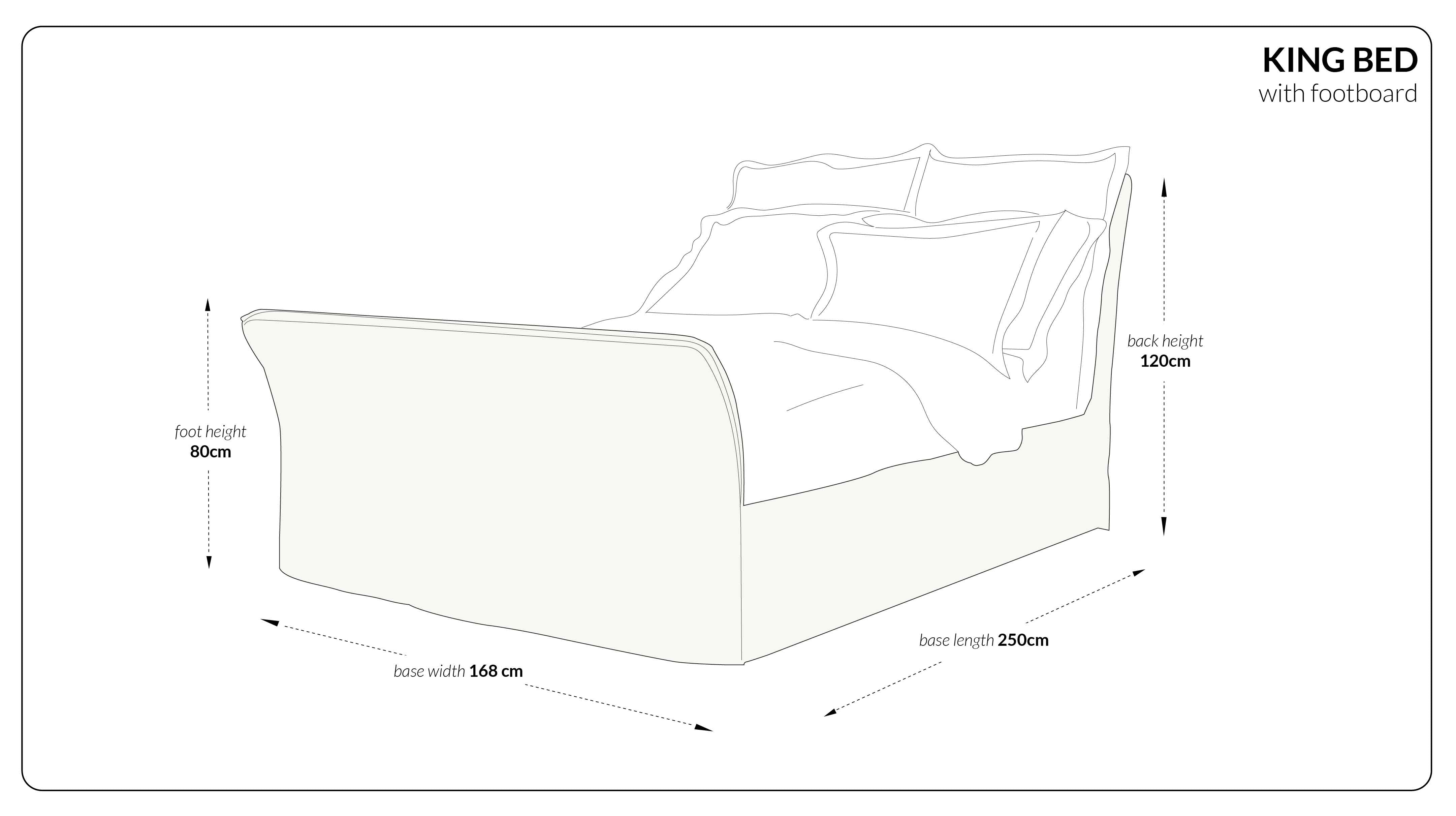 King Bed with footboard