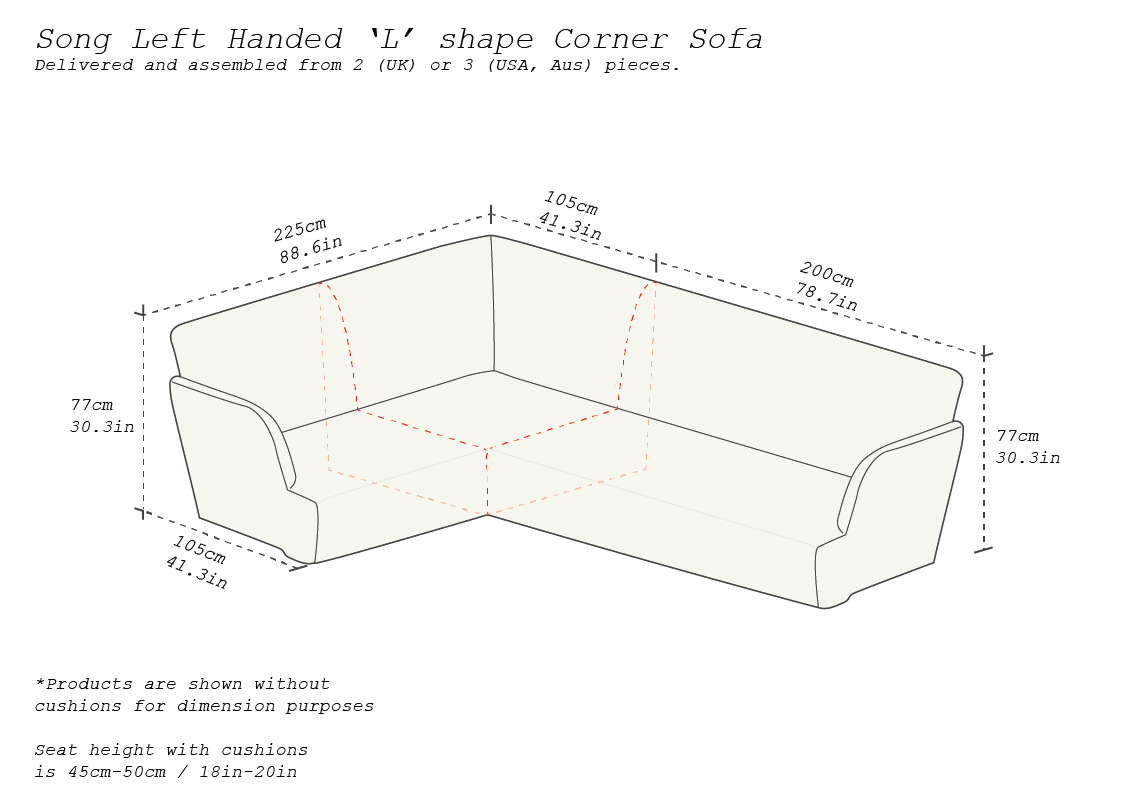 Left-handed-2x3m-sofa