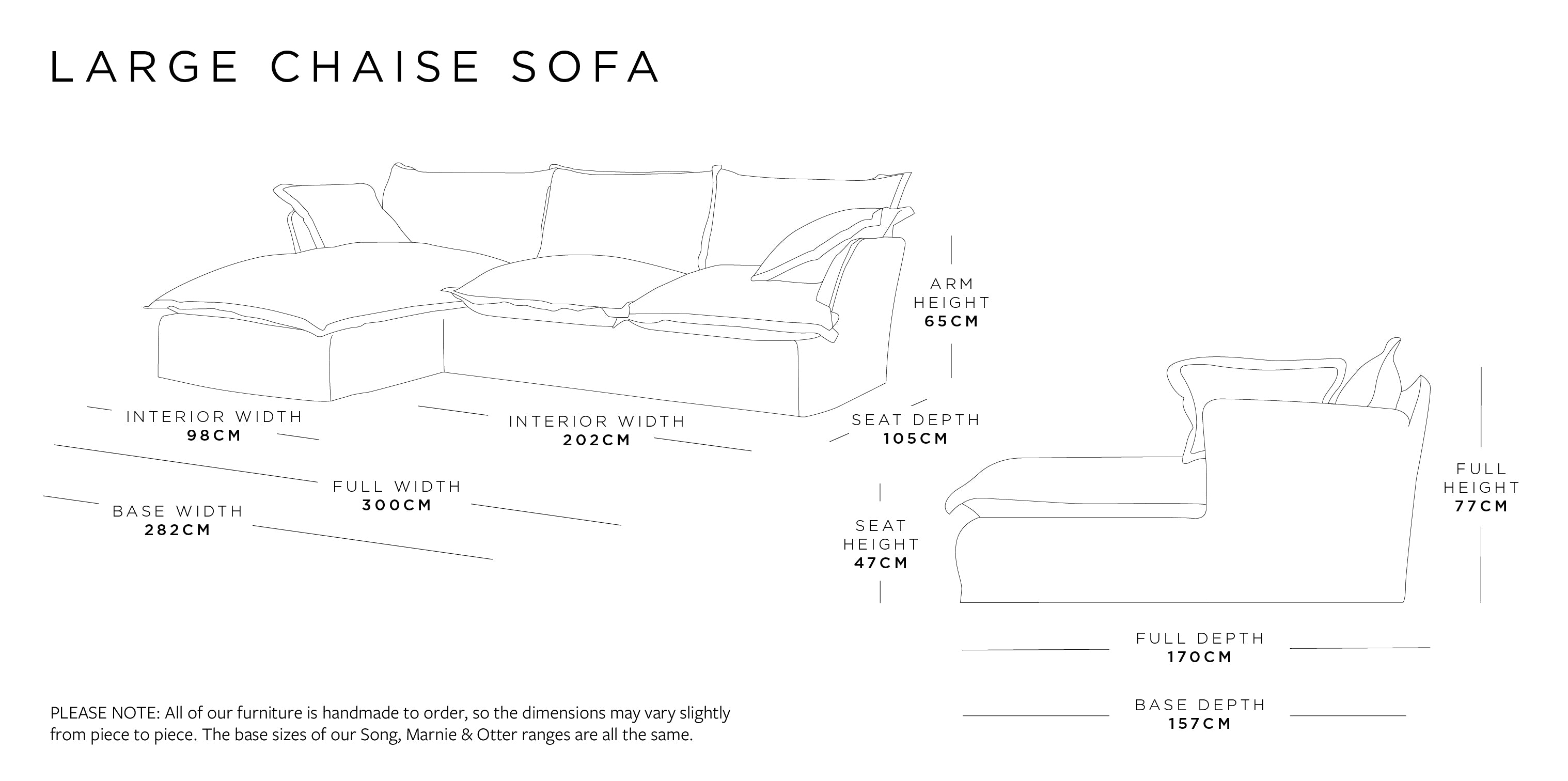 Chaise Large Sofa Dimensions