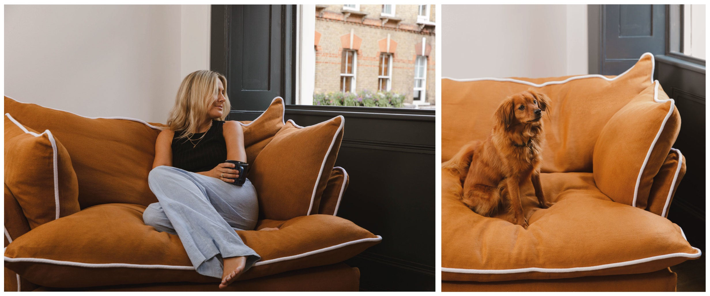 Lucy Williams in her Makerandson armchair