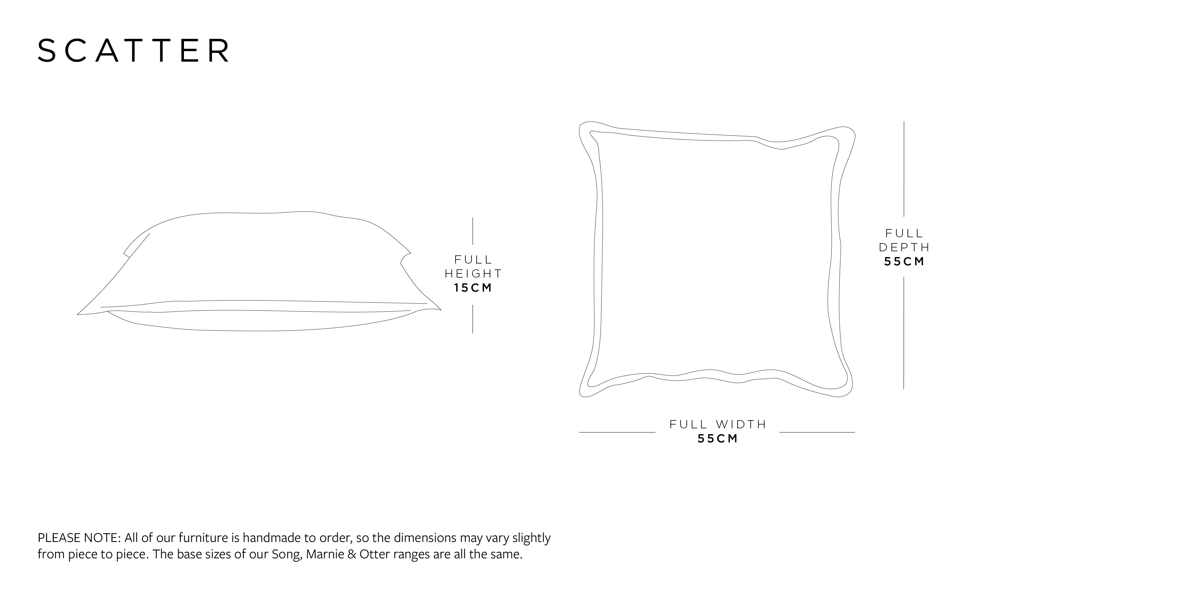 Scatter Cushion Dimensions
