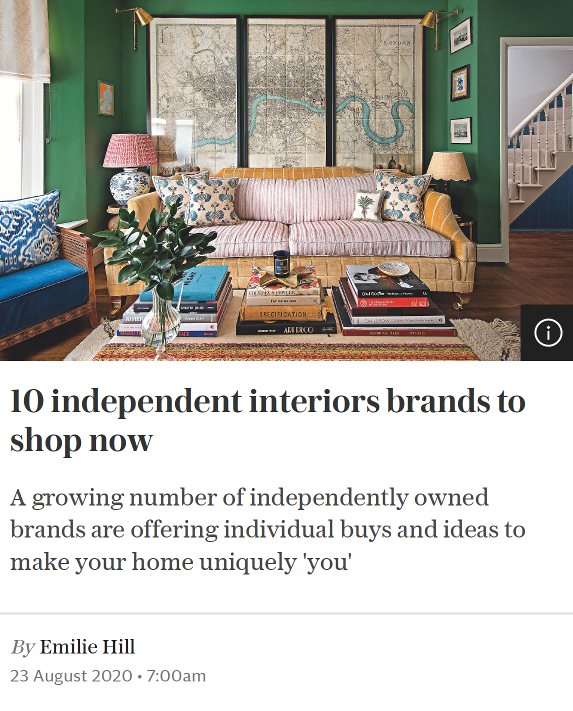 Main image of Stella magazine article featuring 10 independent interiors brands to shop now