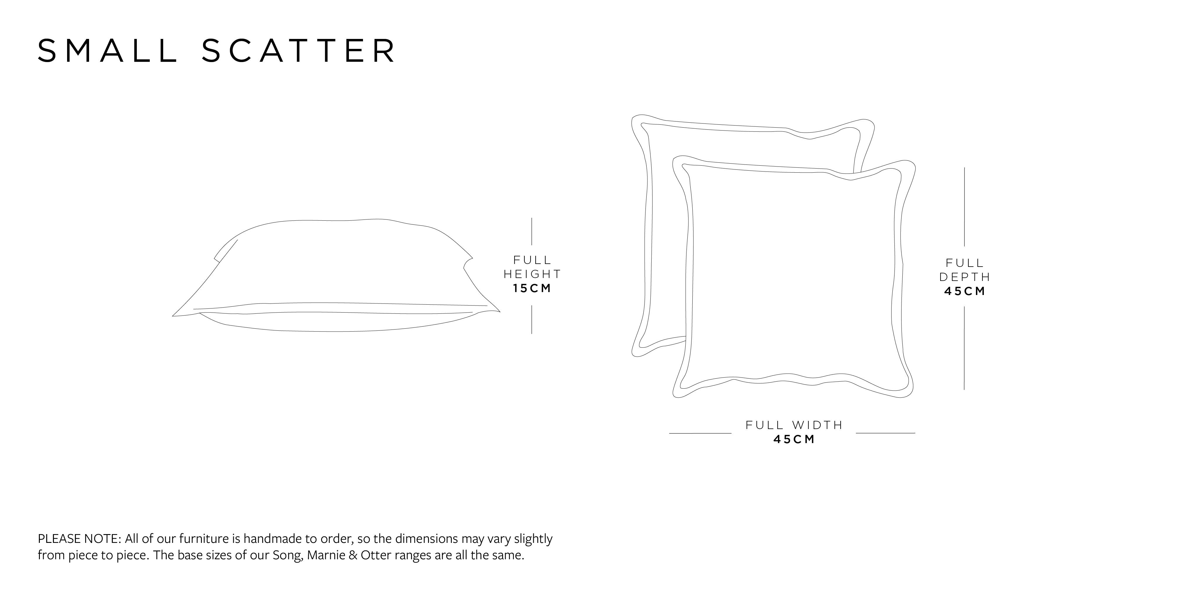 Small Scatter Cushion Dimensions
