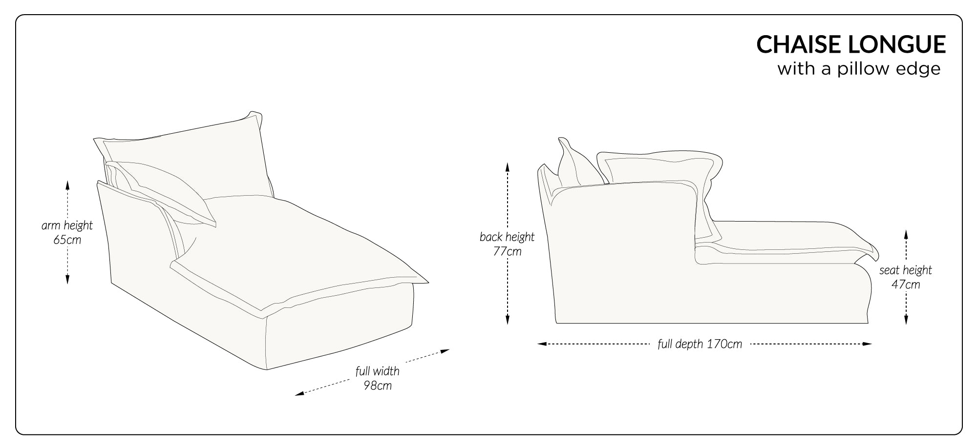 Song Chaise Dimensions
