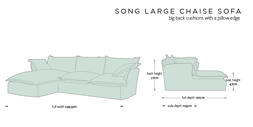 Chaise Large Sofa