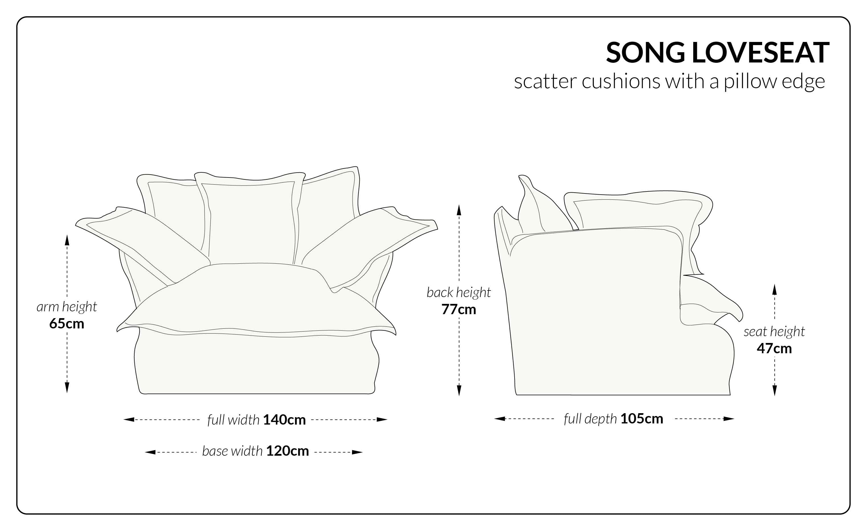 Song Loveseat scatter