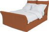 Burnt Orange Corduroy Song King Bed Additional Cover