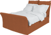 Burnt Orange Corduroy Song Double Bed Additional Cover
