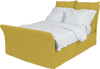 English Mustard Corduroy Song Double Bed Additional Cover