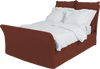 Terracotta  Linen Song Double Bed Additional Cover