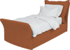 Burnt Orange Corduroy Song Single Bed Additional Cover