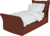 Terracotta  Linen Song Single Bed Additional Cover
