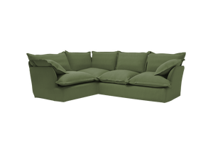 Now Song 2x3 Corner Sofa made in Malachite Linen