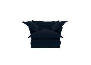 Now Song Armchair made in Navy Velvet