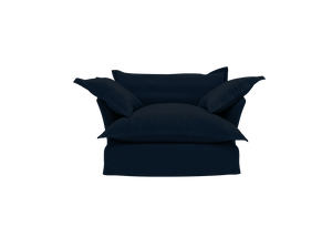 Now Song Love Seat made in Navy Velvet