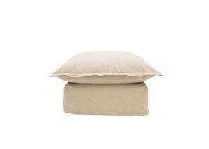 Now Song Footstool made in Sesame Linen Cotton