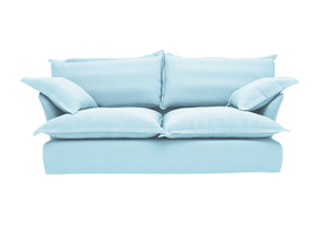 Now Song Sofa made in Aquamarine Linen