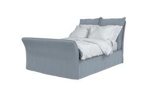 Now Song Double Bed made in Granite Linen