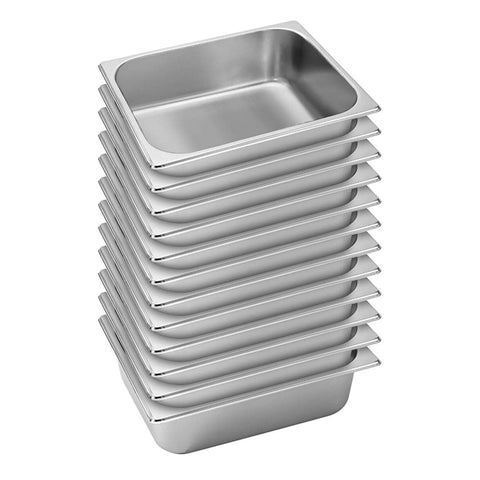 SOGA 12X Gastronorm GN Pan Full Size 1/2 GN Pan 10cm Deep Stainless Steel Tray