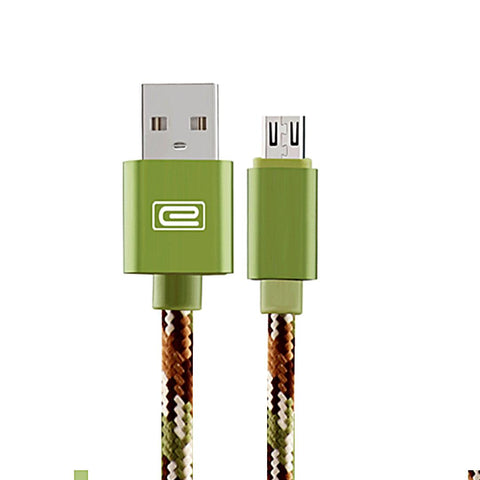 Andorid 1.5M MFI Metal Braided Lightning Usb Cable Green