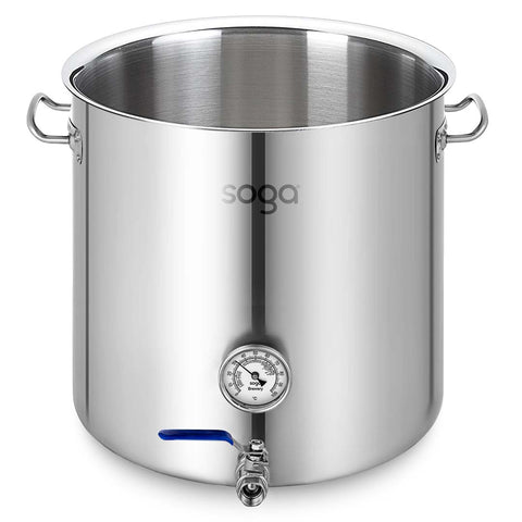 SOGA Stainless Steel No Lid Brewery Pot 98L With Beer Valve 50*50cm