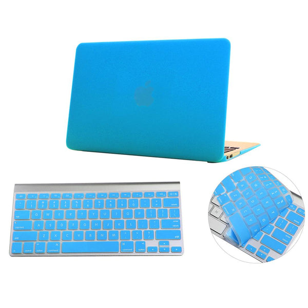 Crystal Matte Hardshell Case + Keyboard cover for Apple Macbook Turquoise