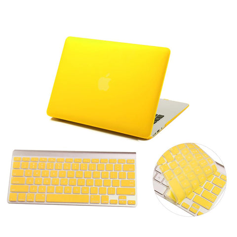 Crystal Hardshell Case + Keyboard cover for Apple Macbook Yellow