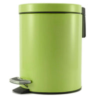 Foot Pedal Stainless Steel Rubbish Recycling Garbage Waste Trash Bin Round 7L Green