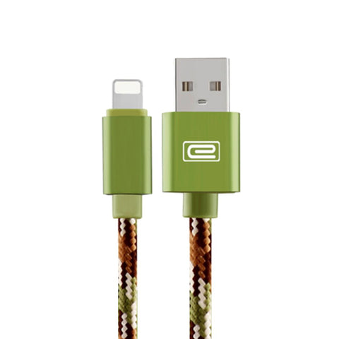 Apple 1.5M MFI Metal Braided Lightning USB Cable Green