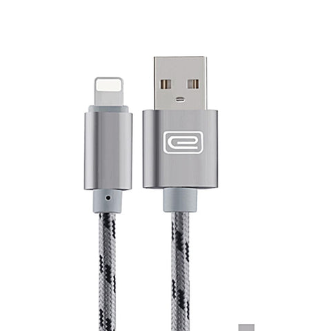 Apple 1.5M MFI Metal Braided Lightning USB Cable Grey