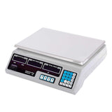 SOGA 40kg Digital Commercial Kitchen Scales Shop Electronic Weight Scale Food White