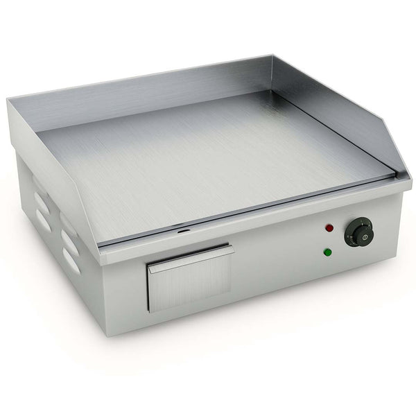 SOGA Electric Stainless Steel Flat Griddle Grill BBQ Hot Plate 2200W 56*48*23cm