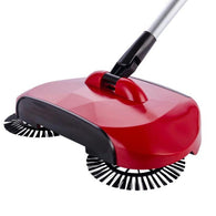 Auto Household Spin Hand Push Sweeper Home Broom Room Floor Dust Cleaner Mop Red