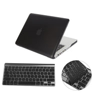 Matte Hardshell Case + Keyboard cover for Apple Macbook Black