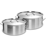 SOGA Stock Pot 14L 58L Top Grade Thick Stainless Steel Stockpot 18/10