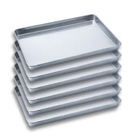 6 x SOGA Aluminium Oven Baking Pan Cooking Tray for Bakers Gastronorm 60*40*5cm