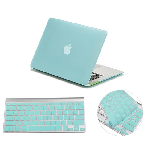Matte Hardshell Case + Keyboard cover for Apple Macbook Green