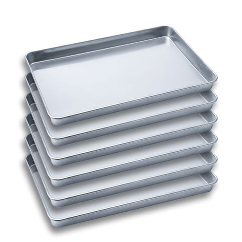 SOGA 6X Aluminium Oven Baking Pan Cooking Tray for Bakers Gastronorm 60*40*5cm