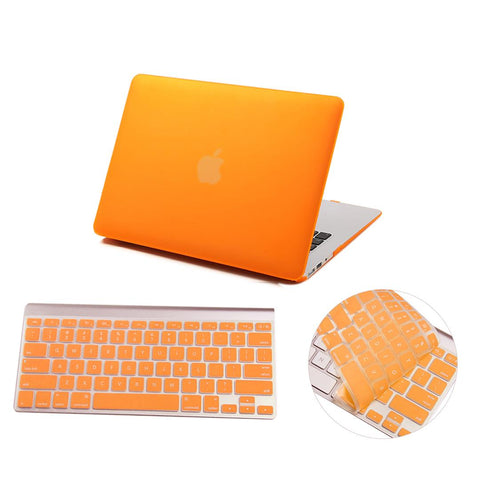 Matte Hardshell Case + Keyboard cover for Apple Macbook Orange