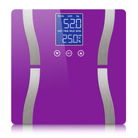 SOGA Digital Body Fat Scale Bathroom Scales Weight Gym Glass Water LCD Electronic Purple