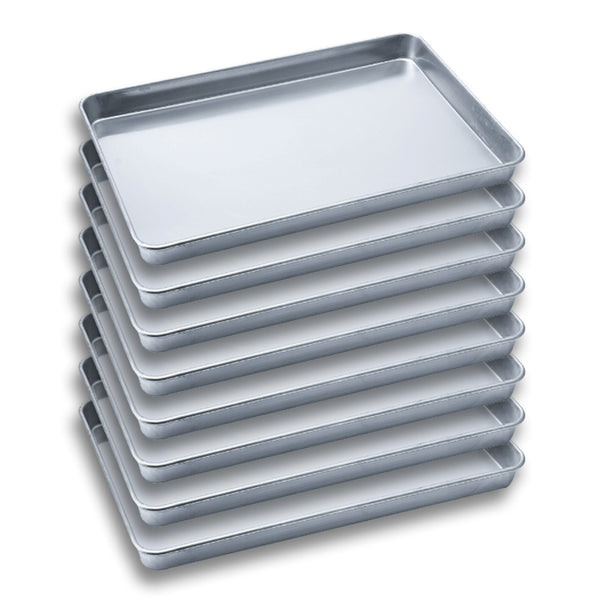 SOGA 8X Aluminium Oven Baking Pan Cooking Tray for Bakers Gastronorm 60*40*5cm