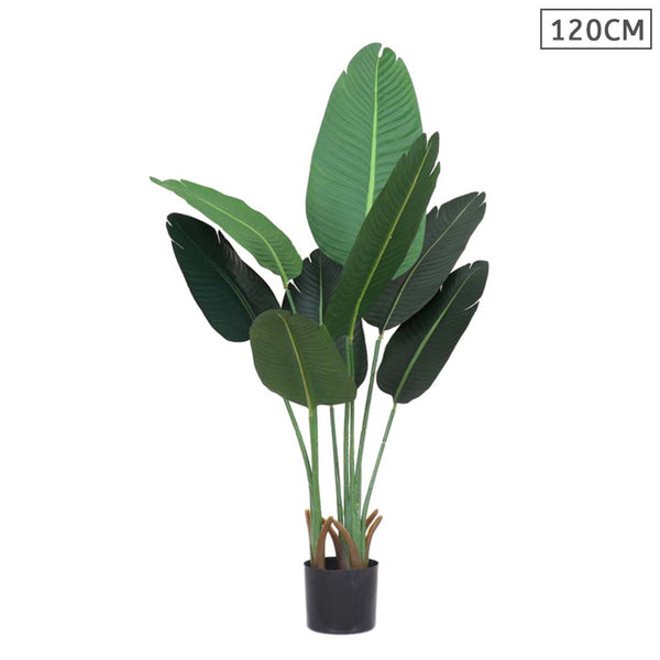 SOGA 120cm Artificial Green Indoor Traveler Banana Fake Decoration Tree Flower Pot Plant