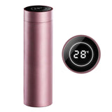SOGA 500ML Stainless Steel Smart LCD Thermometer Display Bottle Vacuum Flask Thermos Rose Gold