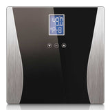 SOGA Digital Body Fat Scale Bathroom Weight Gym Glass Water LCD Electronic Black