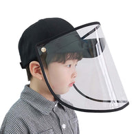 Outdoor Protection Hat Anti-Fog Pollution Dust Saliva Protective Cap Full Face HD Shield Cover Kids Black
