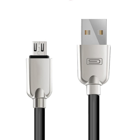 Android 1.5M Lightning Micro USB Data Sync Charger Cable Cord Samsung Black