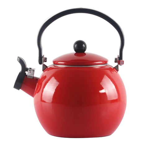2.0 Litre 18/10 Stainless Steel Enameled Porcelain Kettle Kitchen New Red