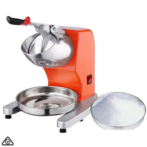 SOGA Ice Shaver Electric Stainless Steel Ice Crusher Slicer Machine Commercial Orange