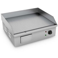SOGA 2200W Stainless Steel Ribbed Griddle Commercial Grill BBQ Hot Plate 56*48*23
